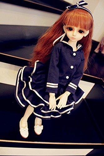 Kuafu 1/4 SD BJD Doll Clothes Dress Navy Ponte skirt suit Set
