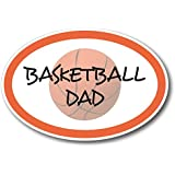 Basketball Dad Car Magnet Decal 4 x 6 Oval Heavy Duty for Car Truck SUV Waterproof