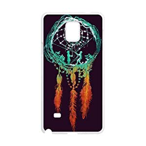 Diy Colorful Dream Catcher Phone Case for samsung galaxy note 4 White Shell Phone JFLIFE(TM) [Pattern-2]