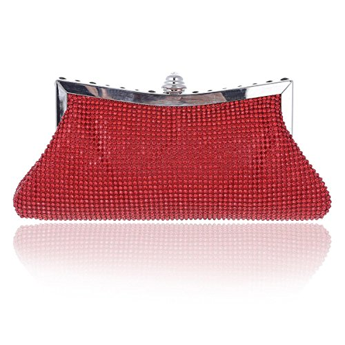 Mesh Party Damara Rhinestones Purse Damara Small Party Ladies Ladies Mesh Rhinestones Red Small C848qwT