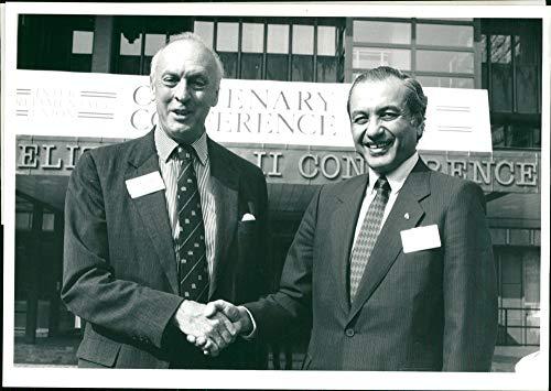 Vintage photo of David Montgomery and Eduardo Menem: Inter-Parliamentary union Conference