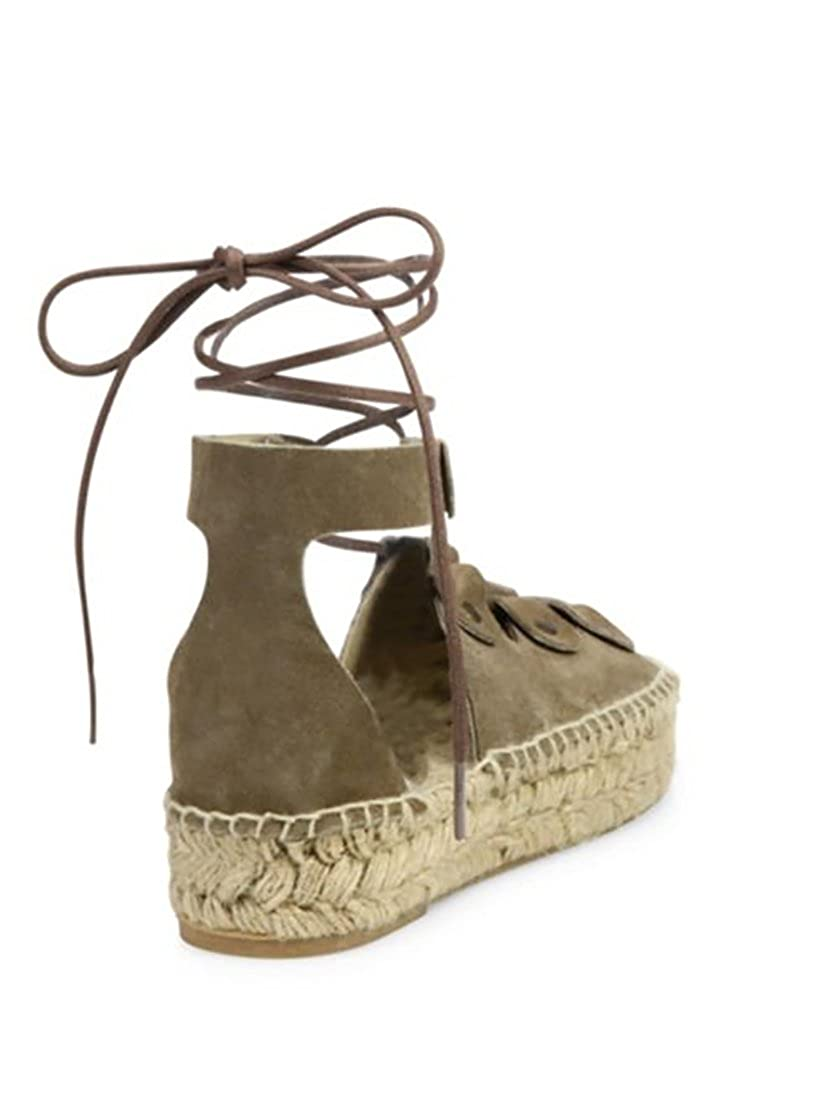 1fb81428c0 Amazon.com | Soludos Ghillie Suede Platform Espadrille Leather Sandals Dove  Grey 11 (11) | Shoes