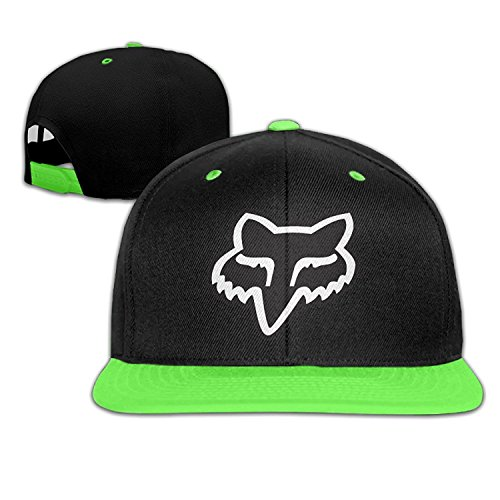 Children Fox Logo KellyGreen Adjustable Snapback Hiphop Trucker Cap One Size