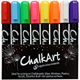 ChalkArt 4.5mm Reversible Tip Liquid Chalk Markers, Pack of 8