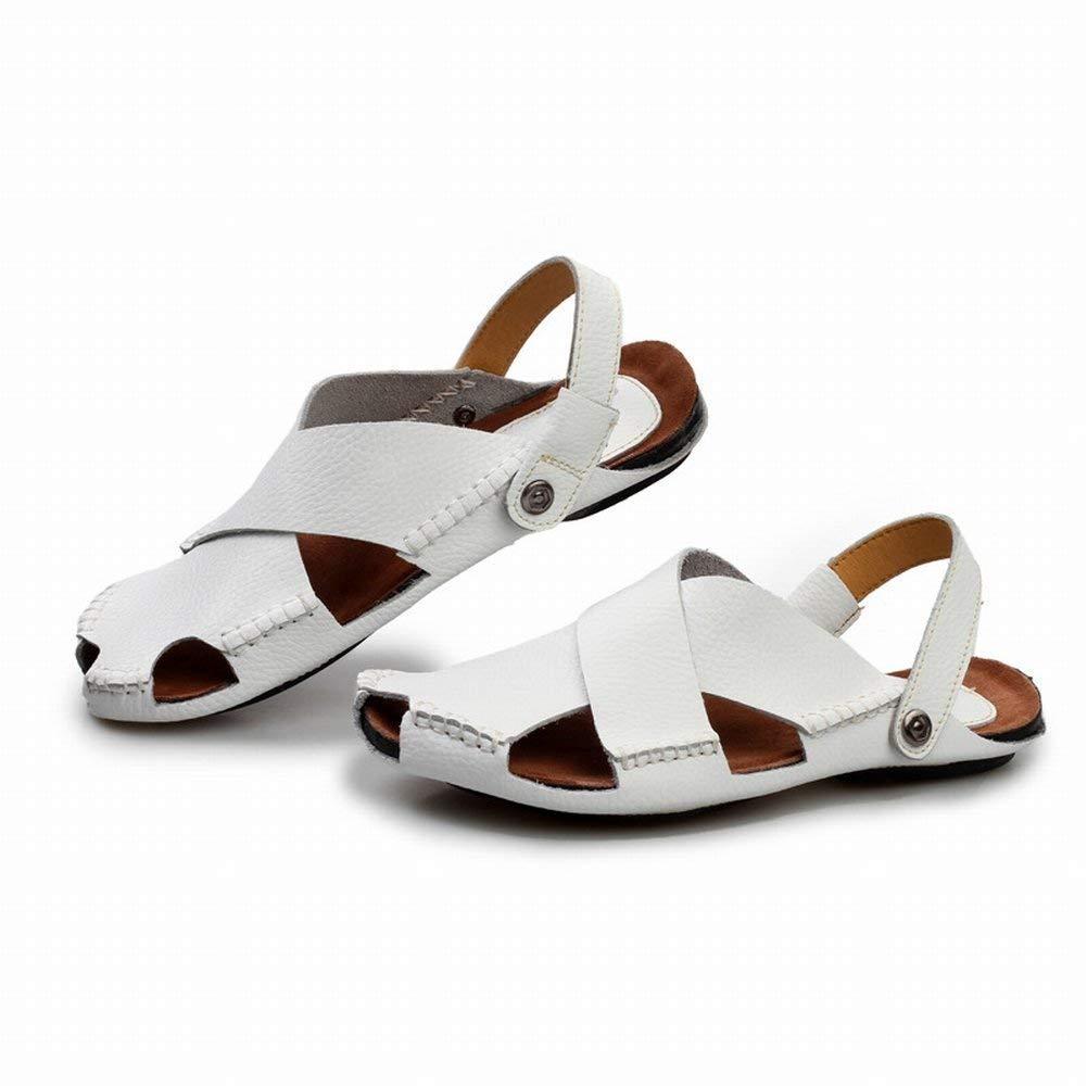 Fuxitoggo Breathable Sandalen Leder Komfort Casual Casual Casual Männer Hausschuhe Männer Sandalen (Farbe   Schwarz, Größe   39)  a30f75