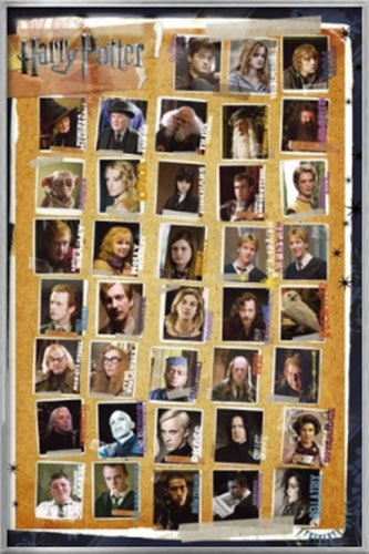 Harry Potter Parts 1-7 - Framed Movie Poster / Print