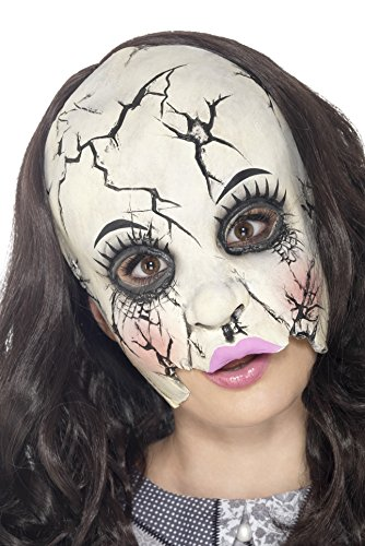 [Damaged Doll Mask Costume Accessory] (Broken Doll Costume For Adults)