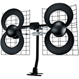 Antennas Direct Clearstream 4 TV Antenna, 70+ Mile Range, UHF, Multi-Directional, Indoor, Attic, Outdoor, Mast W/Pivoting Base/Hardware/Adjustable Clamp/Sealing Pads, 4K Ready, Black – C4-CJM