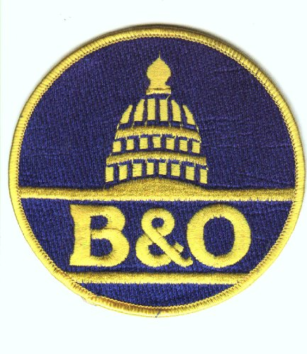 (Railroad 100% Embroidered Patch Collectible -Baltimore and Ohio Railroad)