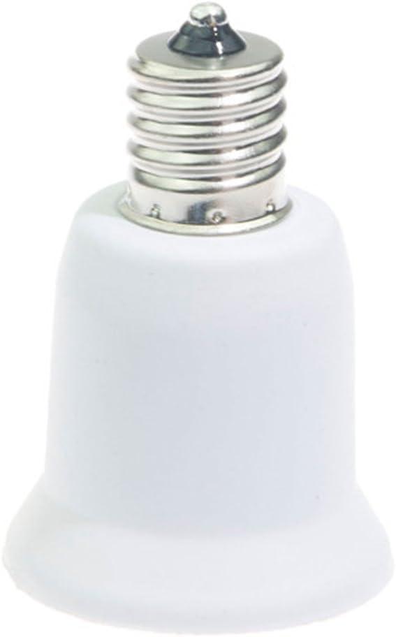 Blanc BUZIFU 10 Pcs Douille Ampoule E27 vers E14 Douille Ampoule /à Visser en PC R/ésistant /à Chaleur Transformateur de Douille pour LED Lampe Halog/ène Lampe /à Economie dEnergie Ampoule fluorescente