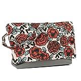 Yarn Pop Clutchable Knitting Bag - Rose Tattoo