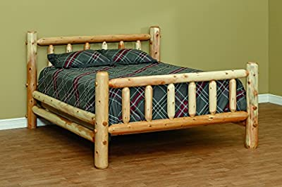 White Cedar Rustic Standard Style King Bed *6 stain options*