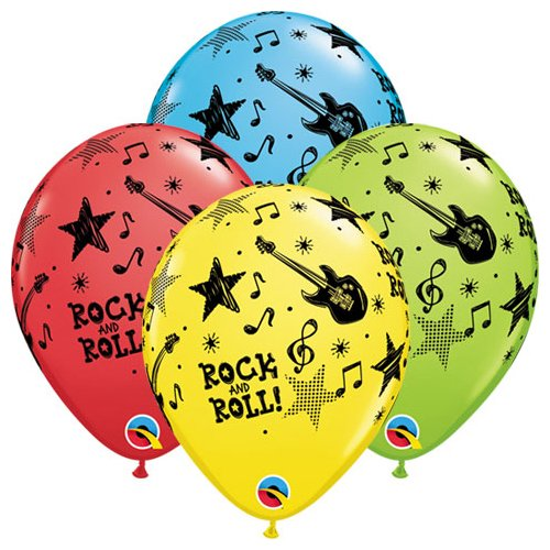 Sock Hop Balloons - Qualatex Latex Balloons 43422-Q ROCK AND