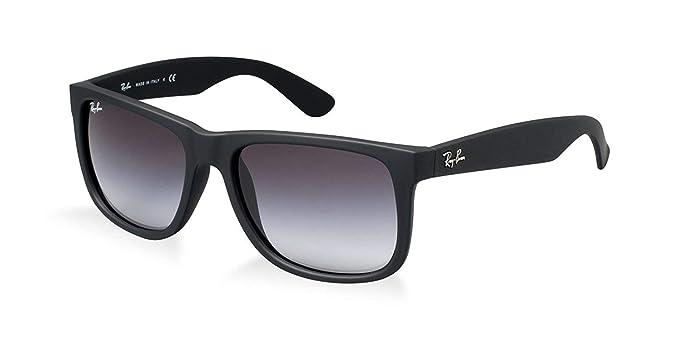 13d6723a7a9994 Ray-Ban Justin Wayfarer RB4165 Sonnenbrille Schwarz Matt - Small ...
