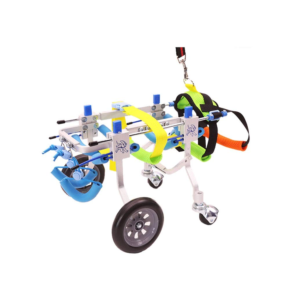 XL Gg1201 Dog bicycle Adjustable Dog Pet Wheelchair, Hip Height 7 -20 , Weight 8 to 55 lbs, Hind Legs Rehabilitatio, 4 Wheels Dog Cart (Size   XL)