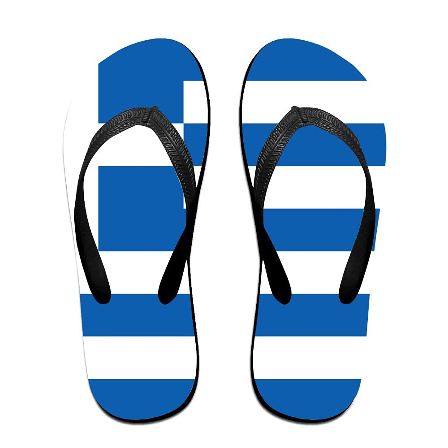 7a0b1f007f2495 Flag Of Greece Cozy Flip Flops For Children Adults Men And Women Beach  Sandals Pool Party Slippers