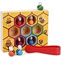 XREXS Toddler Bee Hive Preschool Wooden Toys