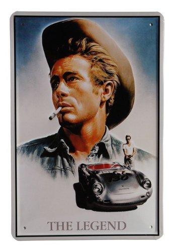 Blechschild 20 x 30 cm Targa in metallo James Dean film The Legend 20/x 30/cm pubblicit/à retr/ò latta 52