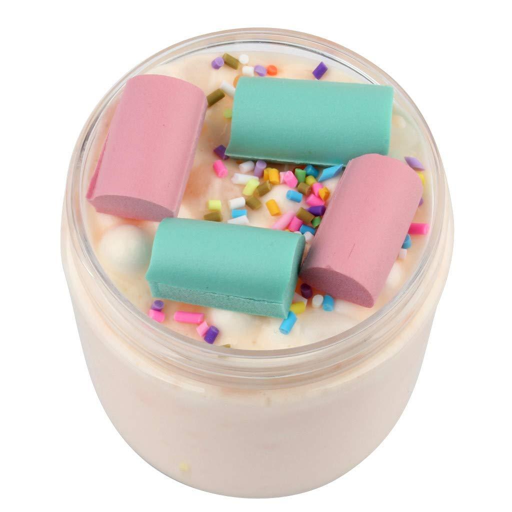 limo transparente hermoso juguetes no t/óxicos juguete para ni/ños y adultos ZJE Juguete esponjoso de slime nube barro de arcilla para masa nueva tarta de cumplea/ños de fresa mezcla de color