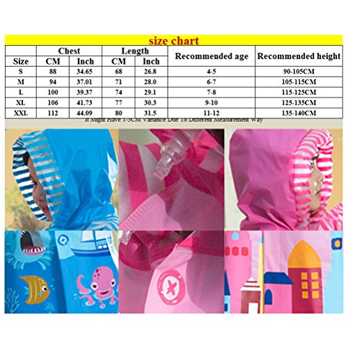 Laixing Calidad Waterproof Children's Raincoats Boys And Girls Are Suitable Pink