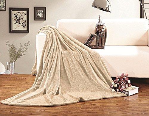 Solid Cream (Elegant Comfort Micro-Fleece Ultra Plush Luxury Solid Blanket, King/California King,)