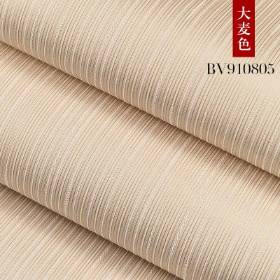 (Jedfild Pure Color Bedroom Warm Non-Woven Wallpaper Modern Simple Vertical Striped Three-Dimensional Living Room Wallpaper Full of Wild, Barley)