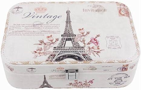 Amazon Com Black Temptation Eiffel Tower Jewelry Box Jewelry Organizer Portable Ornaments Storage Case Home Kitchen