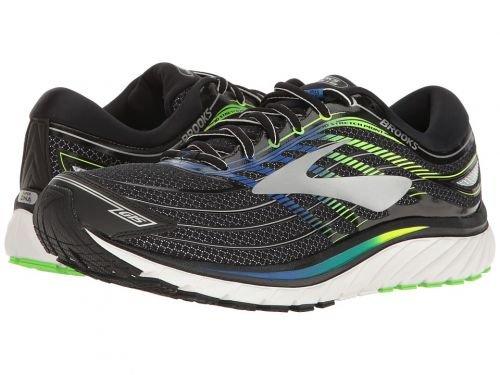 Brooks(ブルックス) メンズ 男性用 シューズ 靴 スニーカー 運動靴 Glycerin(R) 15 - Black/Electric Brooks Blue/Green Gecko [並行輸入品] B07C8GRS4G