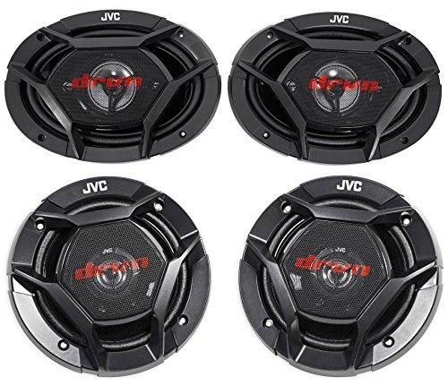 """JVC CS-DR6940 6x9"""" 1100 Watt 4-Way Car Speakers+6.5"""" 300 Wa"""