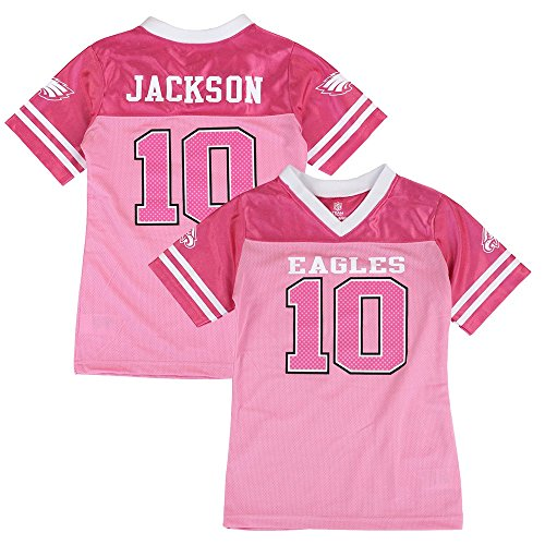 Outerstuff Desean Jackson NFL Philadelphia Eagles Fashion Pink Jersey Little Girls (4-6) - Girls Pink Fashion Jersey