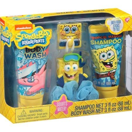 Spongebob Squarepants Soap (SpongeBob SquarePants Soap & Scrub Gift Set, 4 pc by KARSTEN COSMETIC GIFTS PTY.)
