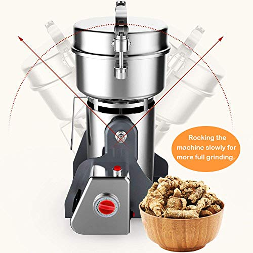 Electric Grain Grinder Mill 2000g Powder Machine High Speed Commercial Swing Type Grinder Machine for Herb Pulverizer Grinding Various Grains Spice by Suteck (Image #6)