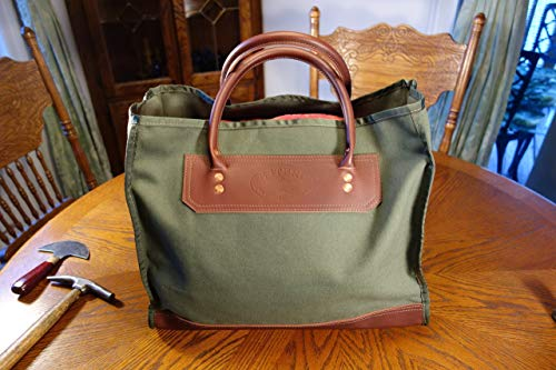 NEW!!!Leather and Canvas market tote bag #41.Handmade in the U.S.A.