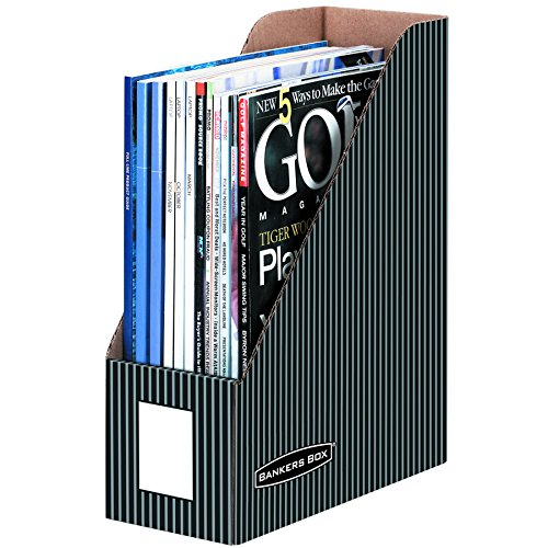 BANKERS BOX Pinstripe Magazine Files, Letter, 6 Pack (6170101)