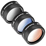 Neewer for DJI Mavic Pro 3 Pieces Filter Set Includes: (1)Graduated Grey Filter, (1)Graduated Orange Filter, (1)Graduated Blue Filter