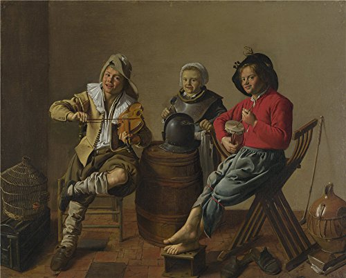 Costa Native Rica Costumes (Polyster Canvas ,the High Definition Art Decorative Prints On Canvas Of Oil Painting 'Jan Molenaer Two Boys And A Girl Making Music ', 10 X 12 Inch / 25 X)