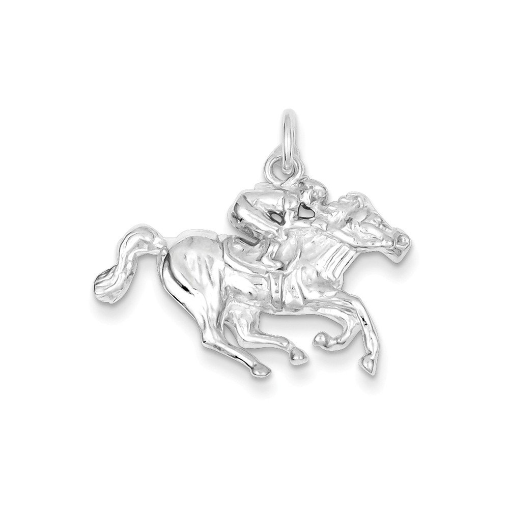 Mireval Sterling Silver Race Horse Charm (21 x 29mm)