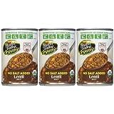 Health Valley Organic Lentil Soup, No Salt, 15 oz, 3pk