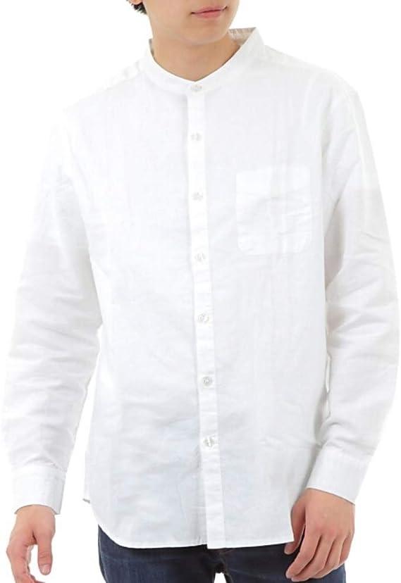 襟 なし シャツ メンズ