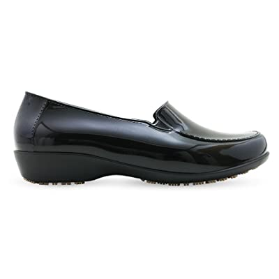 Sticky Waterproof Uniform Dress Shoes for Women - Comfortable Non-Slip Work Shoes - Thermoplastic ClassicPro Loafers: Shoes