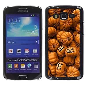 "Pulsar Snap-on Series Teléfono Carcasa Funda Case Caso para Samsung Galaxy Grand 2 II , Naranja calabaza Evil vacaciones"""