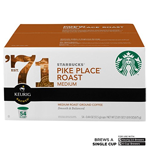 Starbucks Coffee Pike Place (54 K-Cups) (pack of 6) by Starbucks