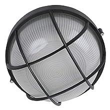 AA Warehousing NBOL1018LED LED Ceiling Light in Black Flush Mount