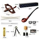 MUXIANG Churchwarden Tobacco Pipe Apple Pipe Tube