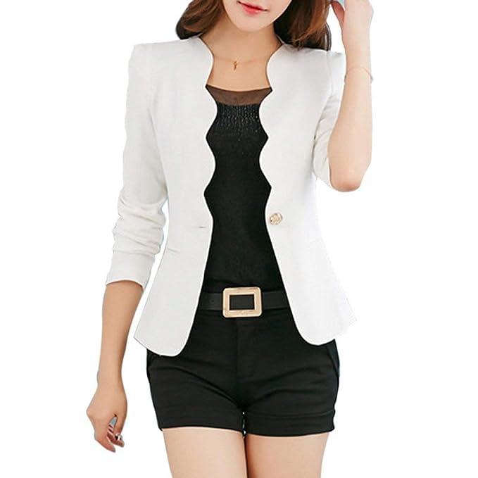 3c6b1c337add Betrothales Primavera Blazer Oeste Oficina Elegantes Fit Slim Mujer ...