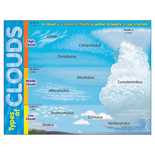 (Trend Enterprises Inc. Types of Clouds Learning Chart, 17