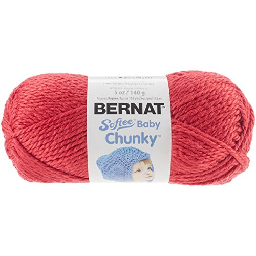 Apple Yarn (Bernat Softee Baby Chunky Yarn (5) Bulky Chunky Gauge 100% Acrylic - 5 oz - Candy Apple Red  -  Machine Wash & Dry)