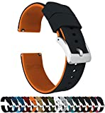 22mm Black/Pumpkin Orange - Barton Watch Bands - Elite Silicone Watch Bands - Quick Release