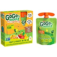 GoGo squeeZ fruit & veggieZ, Apple Pear Carrot, 3.2 Ounce (4 Pouches), Gluten Free, Vegan Friendly, Unsweetened, Recloseable, BPA Free Pouches