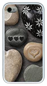 Heart Shaped Rocks12 Hard Diy For Touch 5 Case Cover White